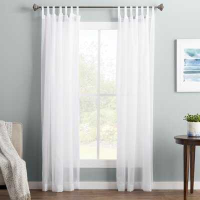 "Wayfair Basics Solid Sheer Tab Top Single Curtain Panel - 95""L - AllModern"