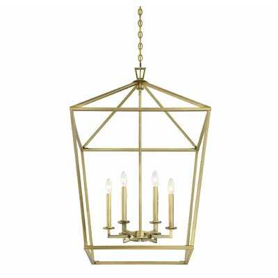 Israel 6-Light Lantern Geometric Pendant - Wayfair