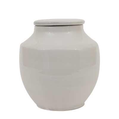 Small Round White Terracotta Cachepot - Nomad Home