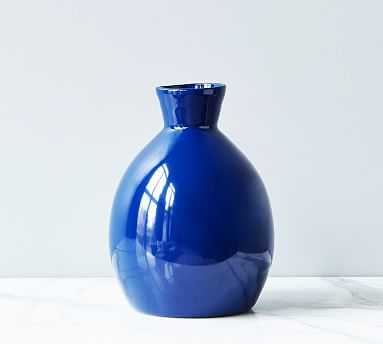 Artisanal Ceramic Vase, Small - Navy Blue - Pottery Barn