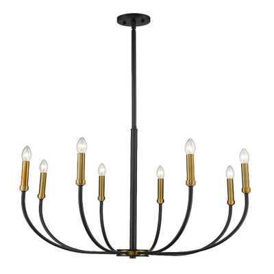 Filament Design 8-Light Matte Black and Olde Brass Chandelier - Home Depot