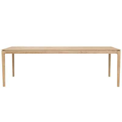 """Ethnicraft Bok Solid Wood Dining Table Color: Natural Oak, Size: 30"""" H x 94"""" L x 39"""" W - Perigold"""