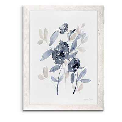 'Peonies In Gray I' - Picture Frame Print on Glass - Wayfair