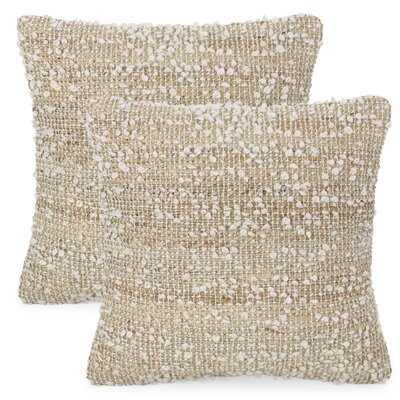 "Jute 18"" Throw Pillow Cover - Wayfair"