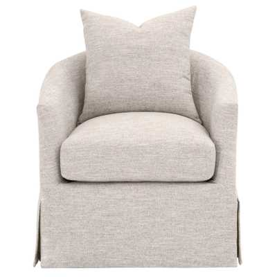 Faye Slipcover Swivel Club Chair - Alder House