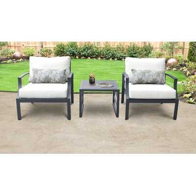 Benner 3 Piece Seating Group with Cushions - Wayfair