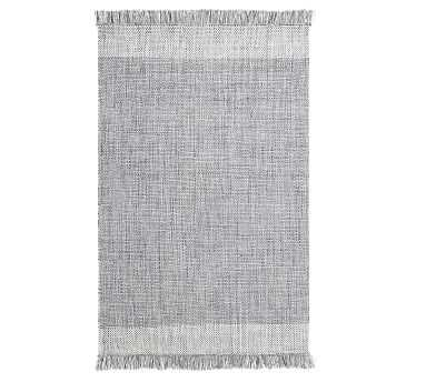 Kian Recycled Material Indoor/Outdoor Rug, 5' x 8', Chambray - Pottery Barn