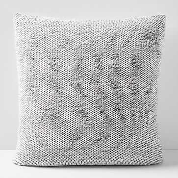"""Sweater Pillow Cover, 24""""x24"""", Pewter - West Elm"""