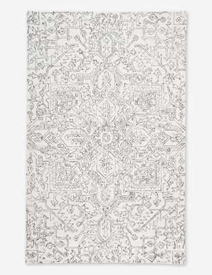 Magali Rug, Ivory/Charcoal 5' x 8' - Lulu and Georgia