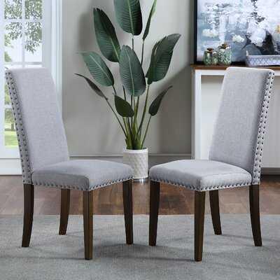Linen Dining Chair in Gray - Wayfair