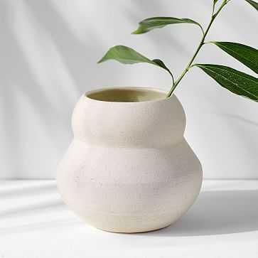 Mud Witch Stoneware Vase, White - West Elm