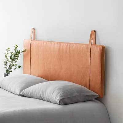 Hanging Leather Headboard - Natural - Full/Queen By The Citizenry - The Citizenry