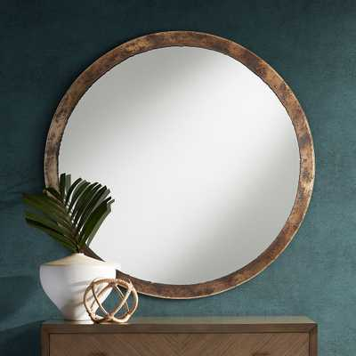 """Uttermost Hammered Jagged Edge 33 3/4"""" Round Wall Mirror - Style # 87M33 - Lamps Plus"""