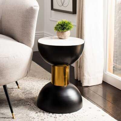Block Marble Top Pedestal End Table - Wayfair
