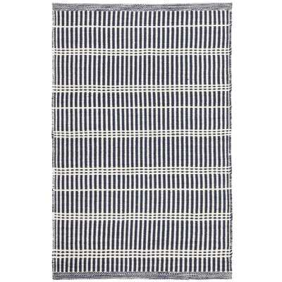 Dash and Albert Rugs Striped Handmade Flatweave Blue Indoor / Outdoor Area Rug Rug Size: Rectangle 8' x 10' - Perigold