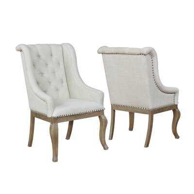 Brockway Tufted Upholstered Dining Chair in Cream- set of 2 - Wayfair