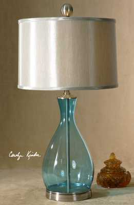 Meena Blue Glass Table Lamp - Hudsonhill Foundry