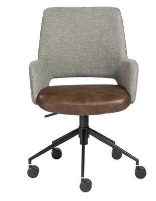 Randy Office Chair, Gray and Brown - Lulu and Georgia