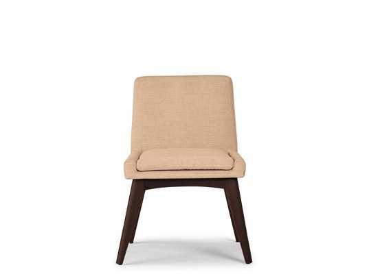 Pink Spencer Mid Century Modern Dining Chair - Royale Blush - Walnut - Joybird