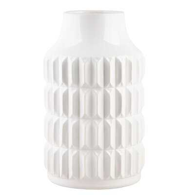 Dougy Modern Texture Table Vase - Wayfair