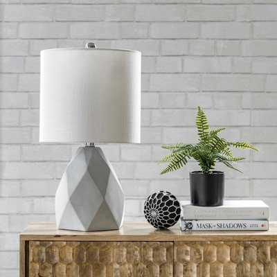 """Ithaca 21"""" Cement Table Lamp - Loom 23"""