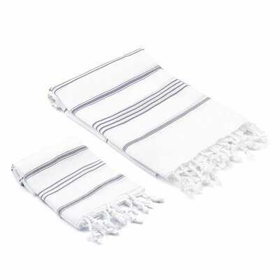 Astère 2 Piece Turkish Cotton Towel Set - AllModern