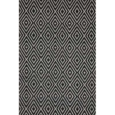 Hand-Woven Black Indoor/Outdoor Area Rug - AllModern