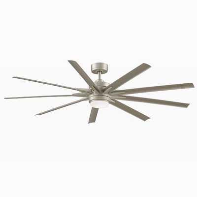 """Modern LED Ceiling Fan, 72"""", Brushed Nickel - West Elm"""