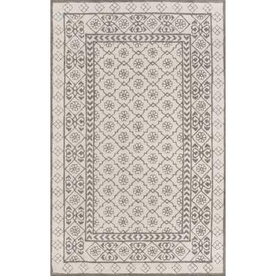 Momeni Newport Hand-Tufted Wool Gray Area Rug Rug Size: Rectangle 8' x 10' - Perigold