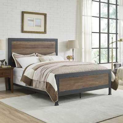 Berta Industrial Queen Standard Bed - Wayfair