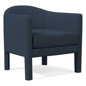 Isabella Upholstered Chair, Poly, Chenille Tweed, Nightshade - West Elm