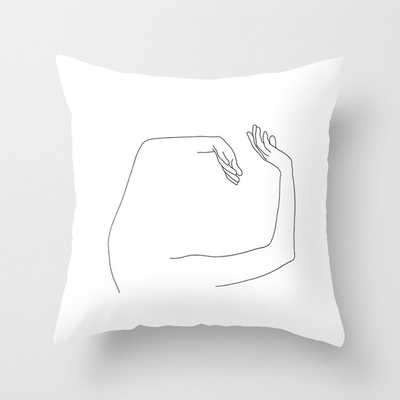 "Arms Up Line Drawing - Maude Couch Throw Pillow by The Colour Study - Cover (24"" x 24"") with pillow insert - Indoor Pillow - Society6"