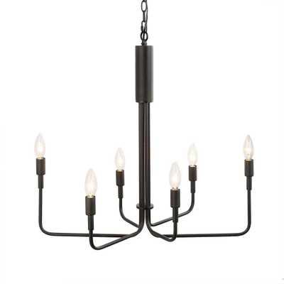 LNC Arlin 6-Light Black Chandelier - Home Depot