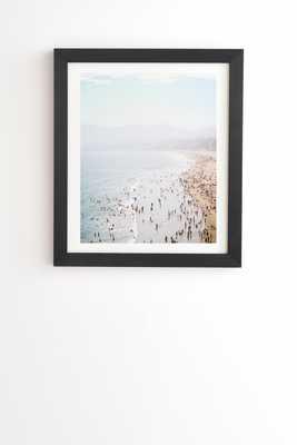 "Bree Madden LA Summer Black Framed Wall Art - 14"" x 16.5"" - Wander Print Co."
