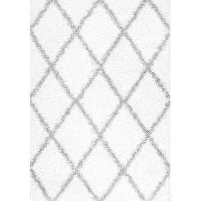 "Colona White Geometric Area Rug - 7' 10"" x 10' - Wayfair"