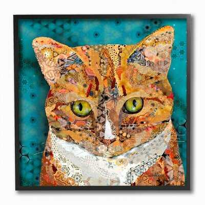 'Abstract Collage Cat Pet Animal Design' Graphic Art on Canvas - Wayfair