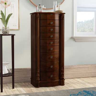 Zakhar Free Standing Jewelry Armoire with Mirror - Birch Lane