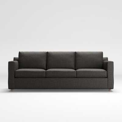Barrett 3-Seat Track Arm Sofa / Galaxy, Smoke - Crate and Barrel
