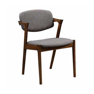 Thomson Upholstered Arm Chair in Gray - Wayfair