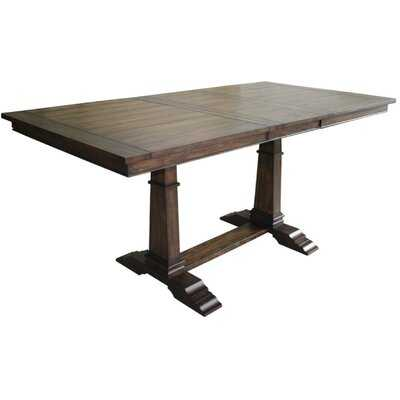 """Comerford Counter Height 38"""" Trestle Dining Table - Wayfair"""