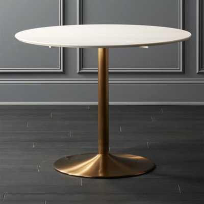 Odyssey Brass Dining Table - CB2