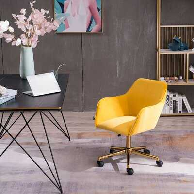 Velvet Home Office Chair With Gold Metal Legs - Wayfair