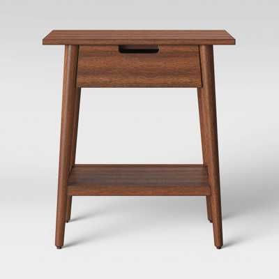 Ellwood Mid Centruy Modern Wood End Table with Drawer Brown - Project 62 - Target