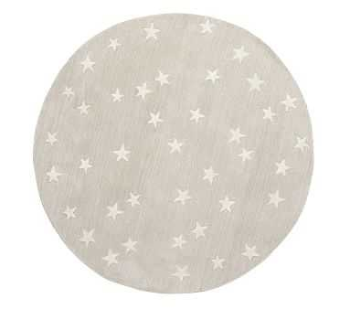 Starry Skies Round Rug, 5 Ft Round, Natural - Pottery Barn Kids