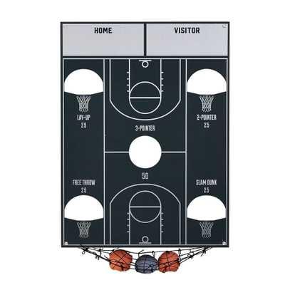 Basketball Bean Bag Toss Game, Black - Pottery Barn Teen