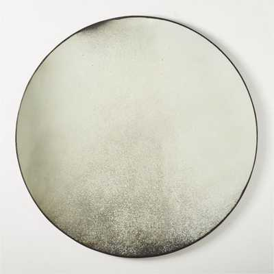 "Clooney Antiqued Round Mirror 48"" RESTOCK IN EARLY JULY,2021 - CB2"