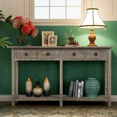 """59"""" Solid Wood Console Table - Wayfair"""