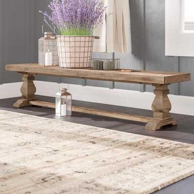 Leibowitz Wood Bench - Wayfair
