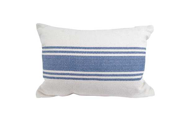 "Magnolia Pillow, 14""x 20"", Blue - Cove Goods"