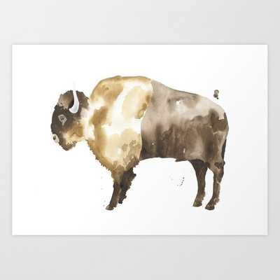 Bison Art Print by The Aestate - X-LARGE - Society6